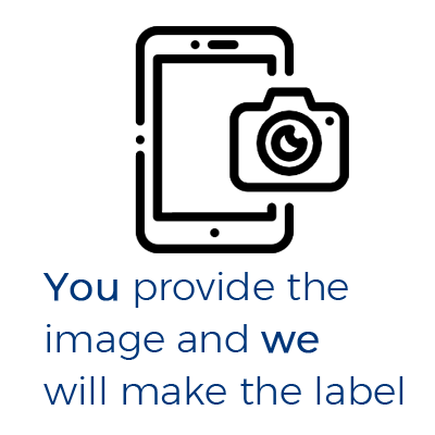 You provide the image and we will make the label